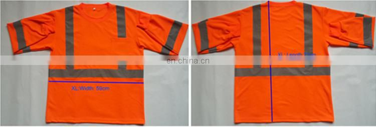 100%Polyester Reflective Security Hi Vis Safety long sleeve Shirt