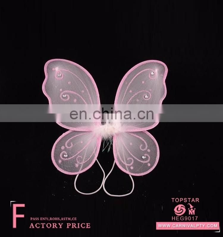 girls fairy dresses pink butterfly wings led chicken wings wholesale