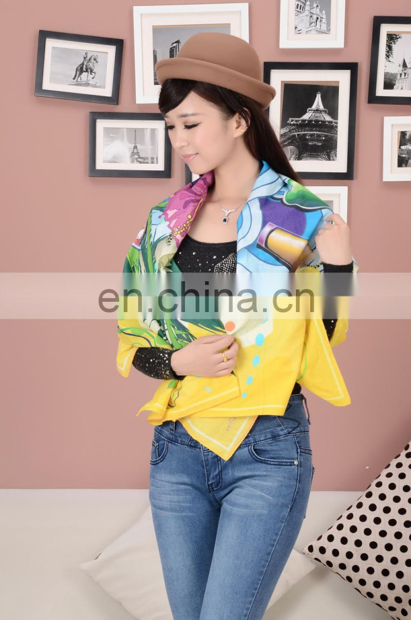 2015 customize design digital printed cotton scarf in mumbai