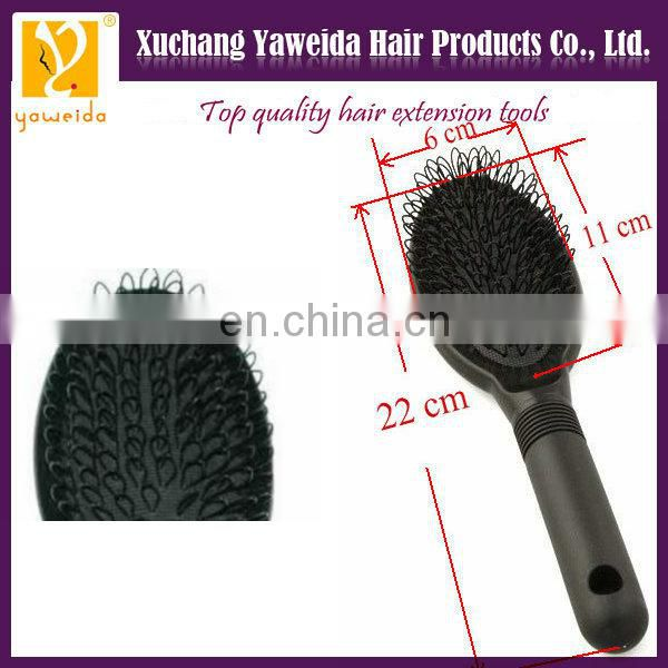 Alibaba express Fast delivery plastic black color hair extension brush /loop hair brush for hair extension /hair thread brush