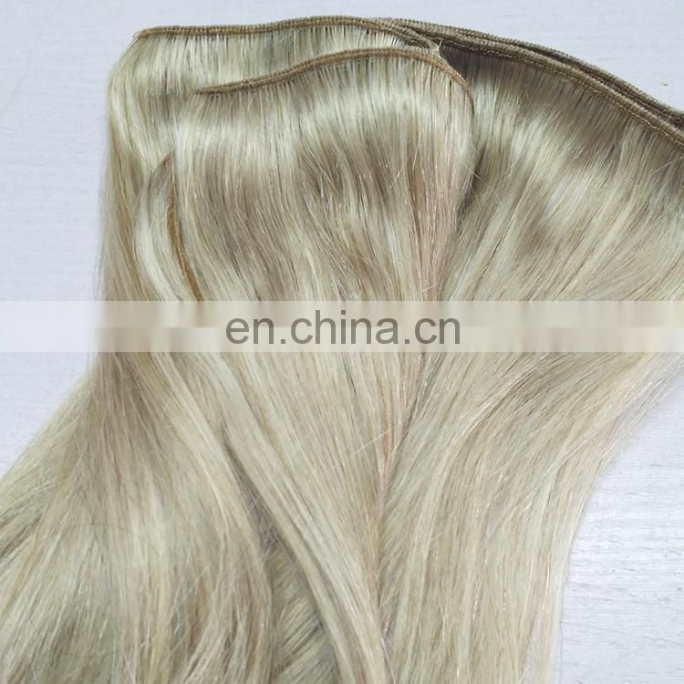 Best Selling Machine Double Wefted Colored Brazilian Virgin Remy Hair Weaves Extension Hair