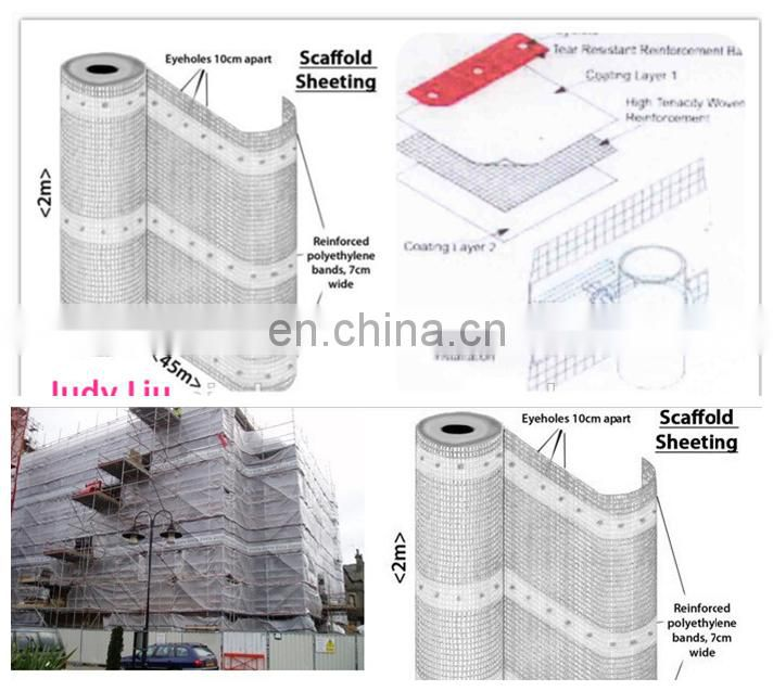 mesh pe tarpaulin for construction scafolding ,transparent pe tarpaulin