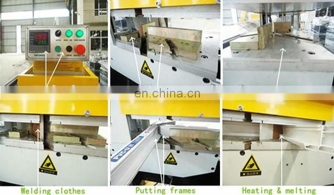 30 to 180 degree seamless weld UPVC window and door machine