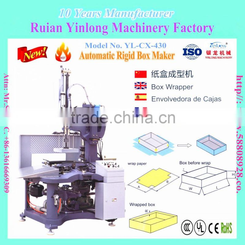 YL-CX-420 Automatic Rigid Box Maker/Business card box making machine ...