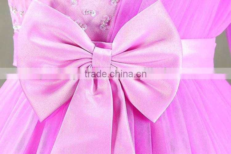 Wedding Girls beading Bows ball gowns flower Dress Kids Princess Mesh tutu floral party Dress garments Pageant Dress for Girls
