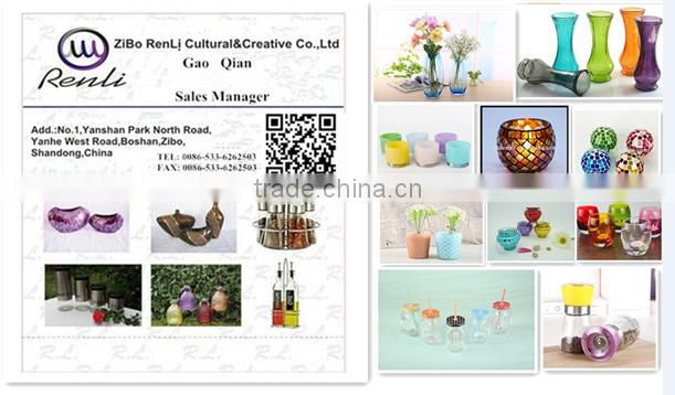 Glass Candle Jars Wholesale and Glass Lids with Customized Design