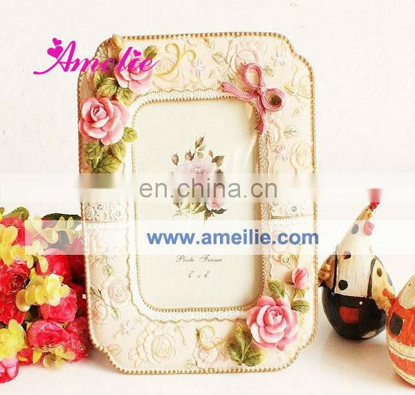 A0112 Wholesale Flower Resin funny frame photo