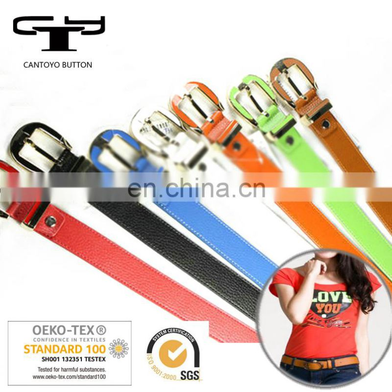 2018 decorative big colorful clear plastic belts for jeans