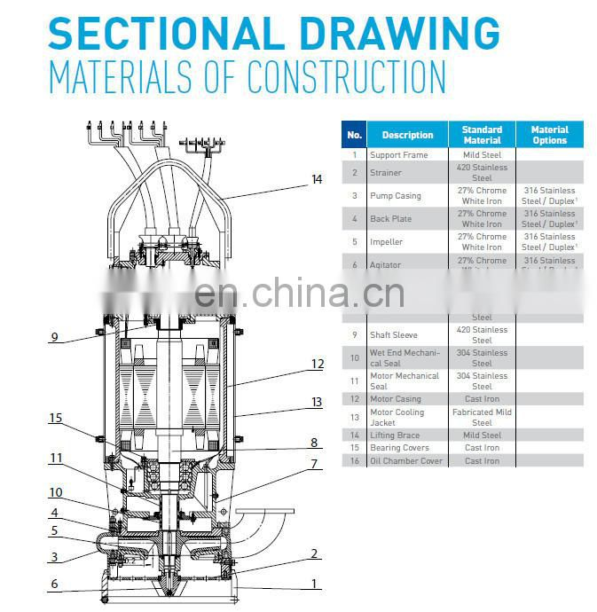 Abrasive solid submersible sludge dewatering