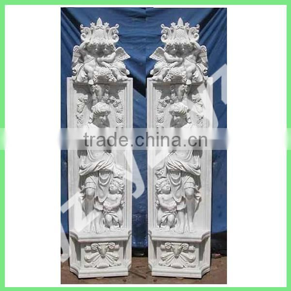 hand carved greek marble columns for sale