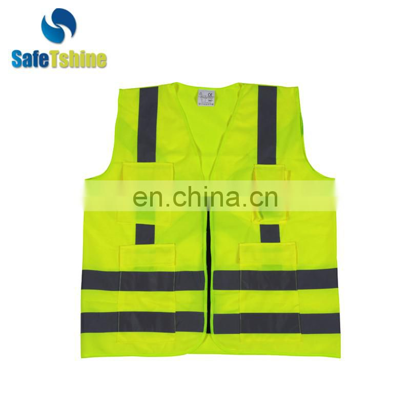 hot selling reflective safety fluorescent fabric vest