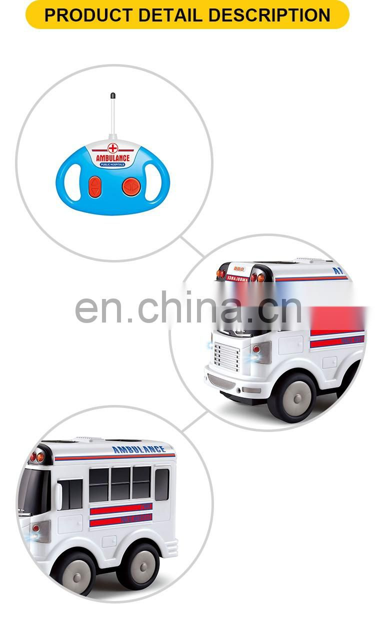 New product 4 channel remote control ambulance toy car with music & light
