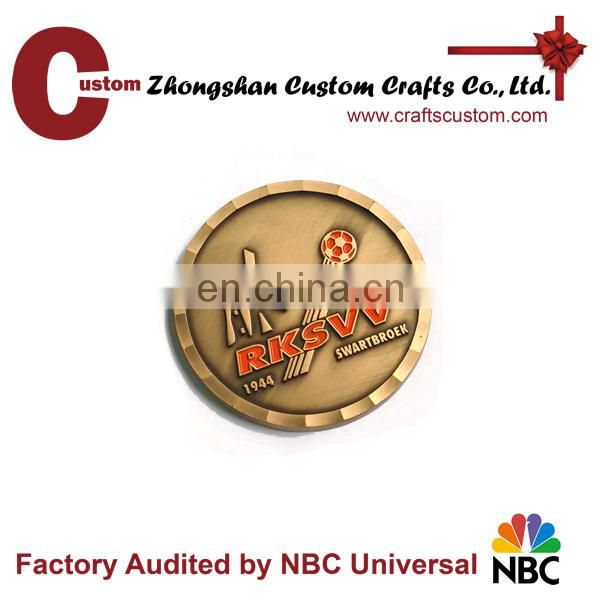 factory price OEM brand custom metal challenge silver coin