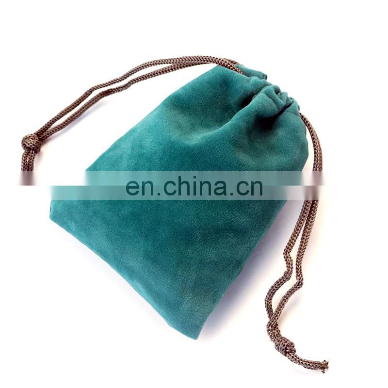 Wholesale custom velvet drawstring jewelry necklace pouch bag