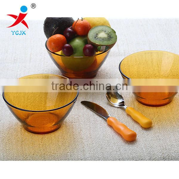 glass soup bowls/Fruits and vegetables, creative salad bowl sets