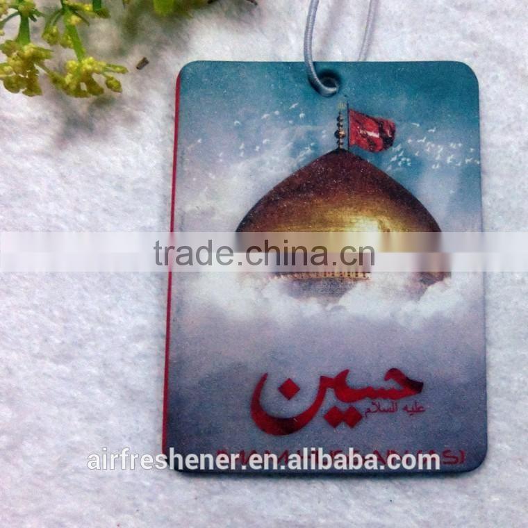hanging rose scented perfume car air freshener business card of ...