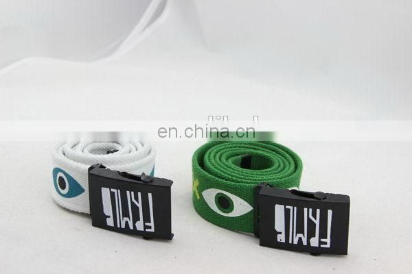 Canvas Belt With Full Printing Webbing Belt