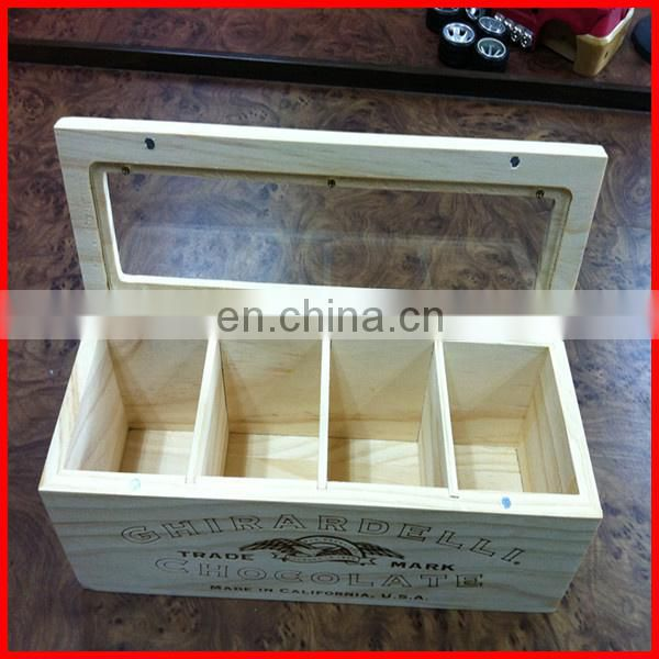 Luxury High Quality Hard Plywood Wooden Gift Boxes With Logo On