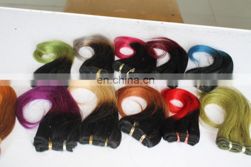 Grade 7A Brazilian Ombre T1B/Purple Remy Hair, Wholesale Virgin Brazilian Ombre Hair Extensions