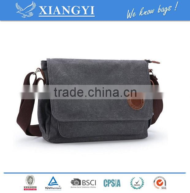 Vintage Canvas Messenger Bag Shoulder Bag Laptop Bag Book Bag Satchel School Bag Crossbody Bag Sling Bag Travel Bag Cas Image
