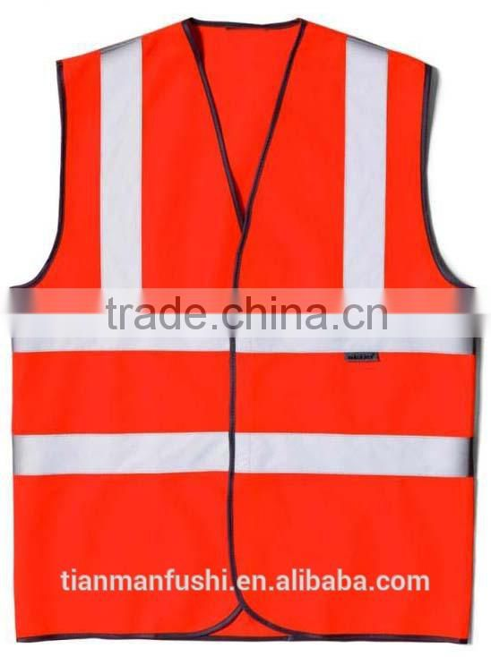 2015 Organge Reflective High Visibility Mining Workwear Vest Hot Sale Customed Work Clothes