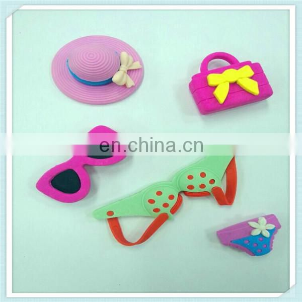 The girl series puzzle 3D eraser for children