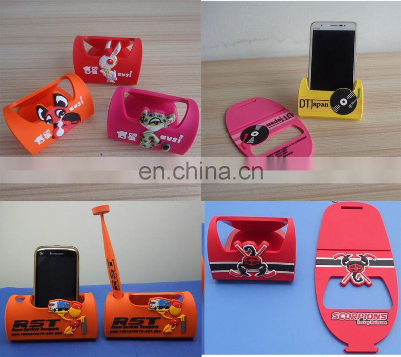 customized soft pvc plastic smartphone stand holder for promotional gift
