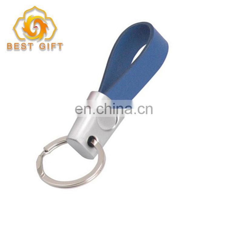 2018 New Deisgn Engraved Zinc Alloy PU Leather Keychains