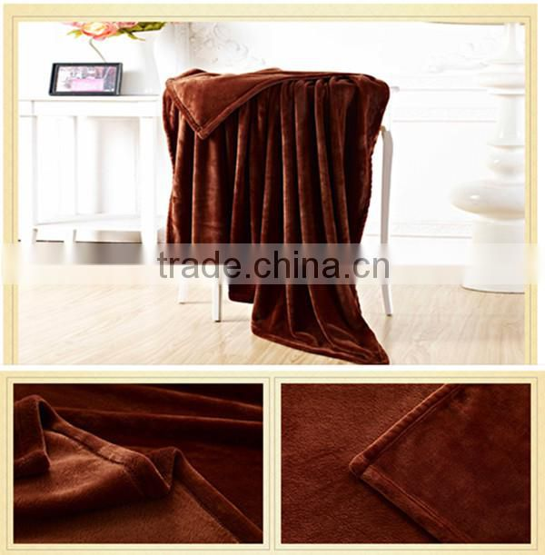 natural material china factory coral faux fur blanket