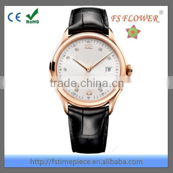 FS FLOWER - Elegant And Nobleman Quality Men's Leather Watch Senior Gifts