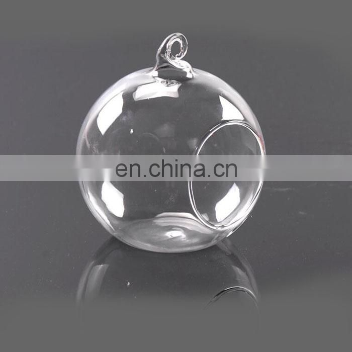 Hanging glass terrarium round clear glass globe Home Decor glass ball terrarium
