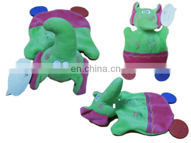 Customized elephant Plush Baby Bed Bell Rattle Toys Baby Wrist Rattle B0090 Shenzhen toy factory