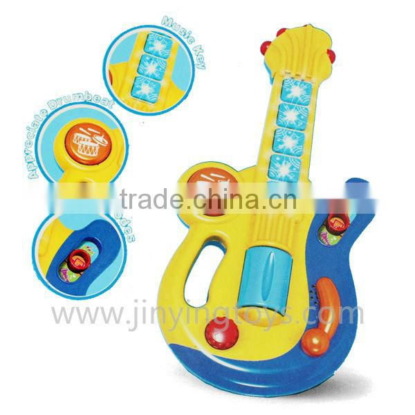 Hot selling guitar toy for children with music and flashing light plastic and EN71