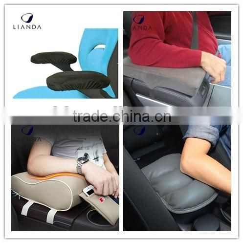VIP Luxury Black Memory form Car Seat Cushions Armrest Center Consoles Cushion Pillow Pad for Car Motors Auto Vehicle