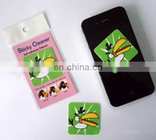 Microfiber Material and Mobile Phone Use sticky dustin screen cleaner for promotion