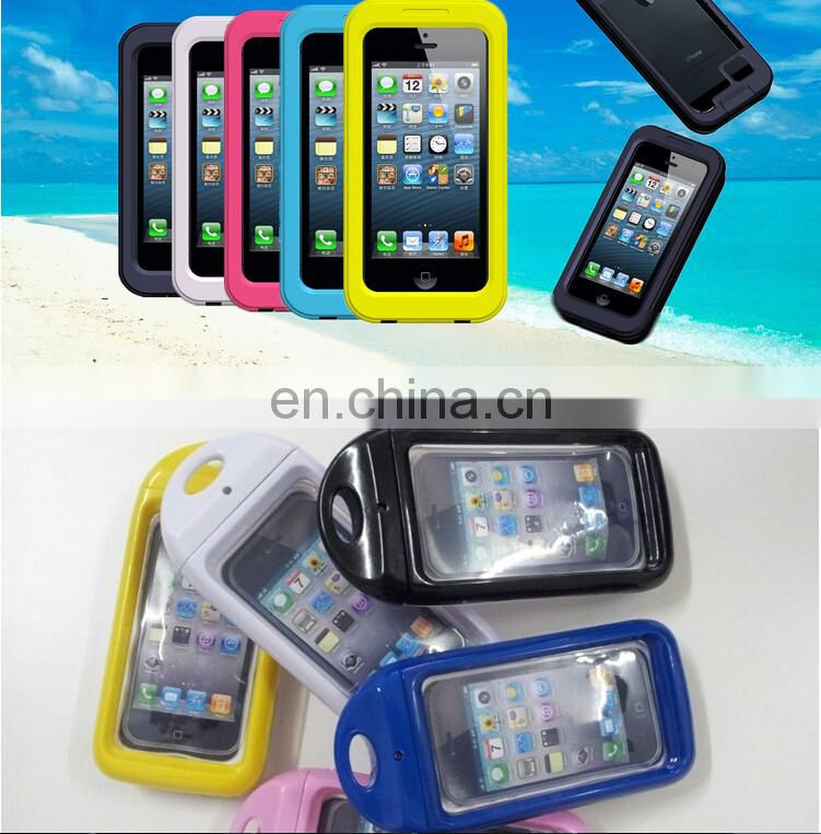2015 the newest fluorescent mobile phone waterproof bag waterproof case for samsung,waterproof dry bag