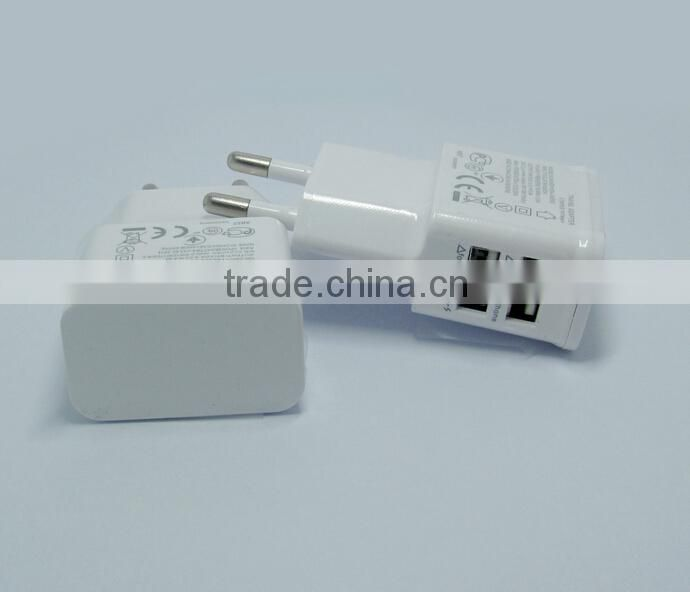 2.1A Dual 2 Ports USB EU USA Wall Charger Adapter for Samsung for iPhone for HTC for MOTO Perfect