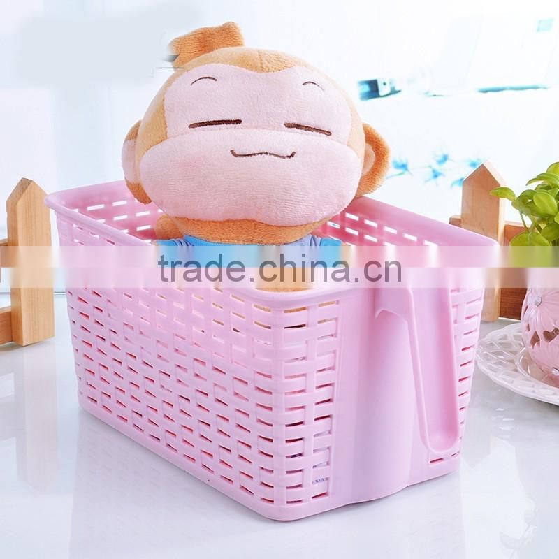 plastic household storage box with handle