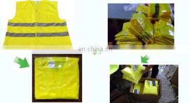 Promotional environment friendly red highlight reflective line safety vest