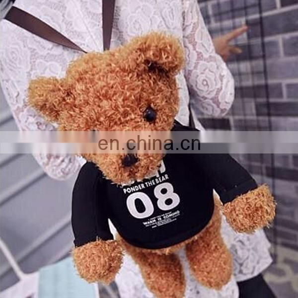 3D Teddy bear schoolbag,children gifts plush toy