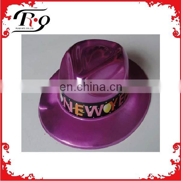 red happy new year pvc hat