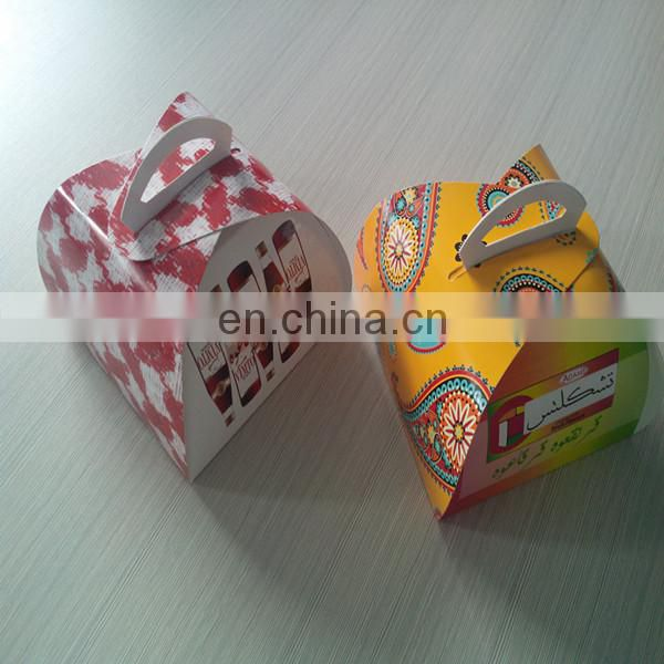 Custom Printing High Quality Paper Card Box Packing Cake, Cake Box Packing With Handle Personalized Printing