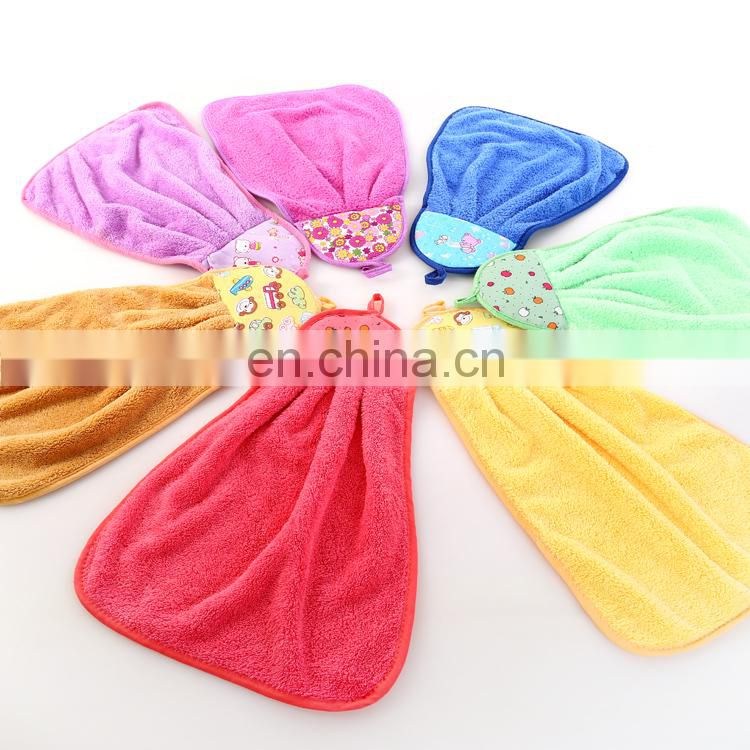 Low-Priced High Quality Coral Fleece Hanging Microfiber Kitchen Towel