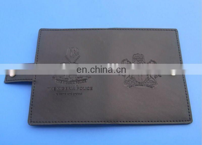 PU leather wallet with custom logo, wallet and badge sets