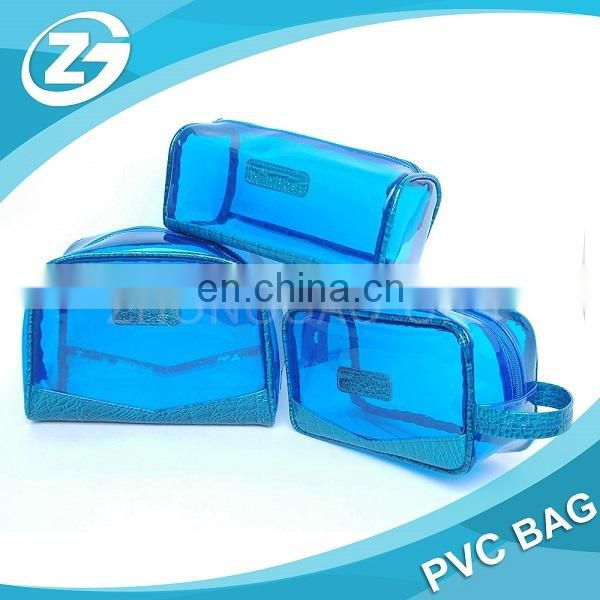 Customized Logo High Quality Large Middle Samll Size PVC Cosmetic Bag Set