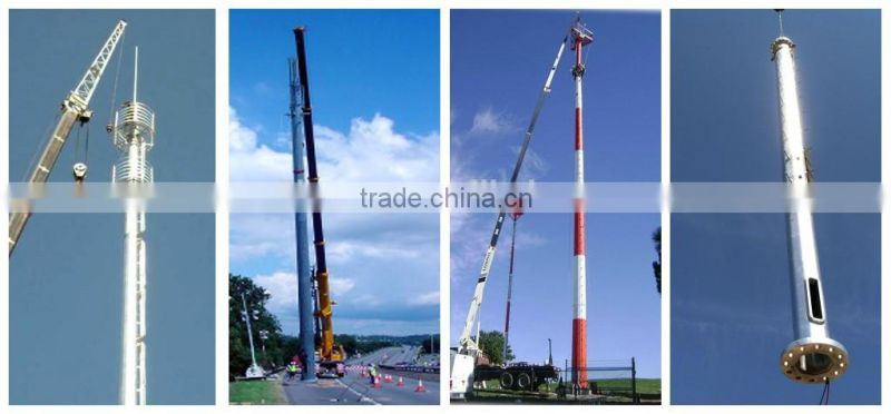 electric galvanized steel monopole tower,telecommunication