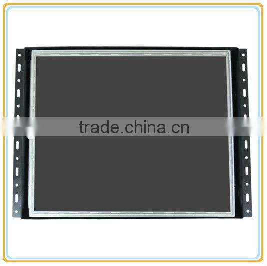 general touch open frame touch screen monitor with metal case and frameless design for industrial applications