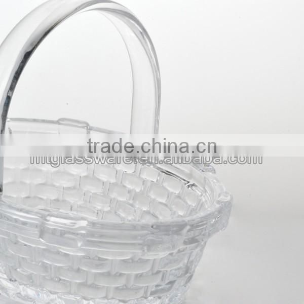 fancy eastern glass basket with handle