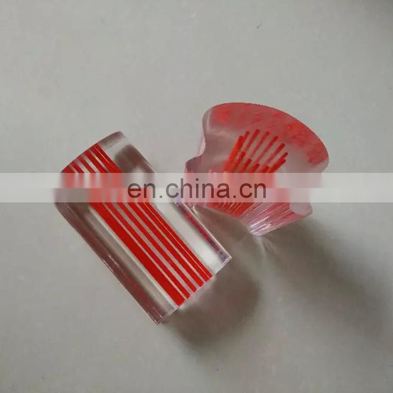 red clear colorful swirl acrylic rod