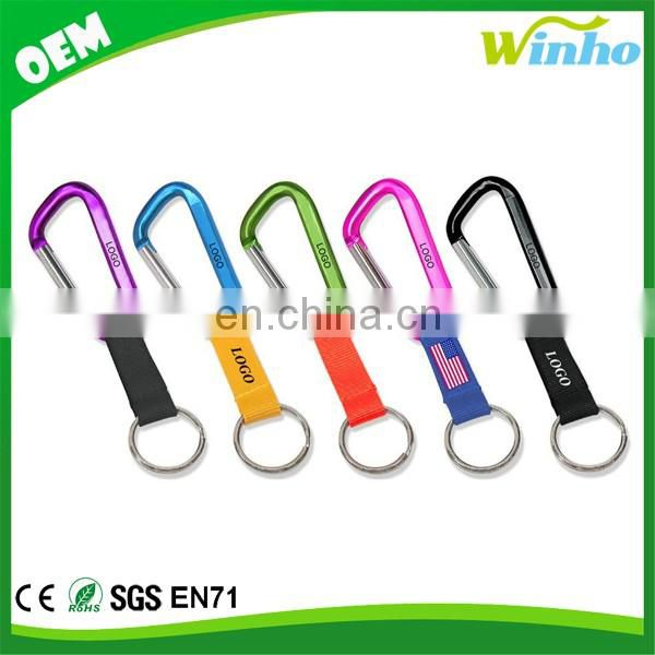 Winho Carabiner Keychain With Polyester Strap and Key ring
